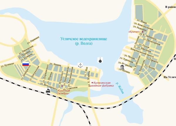 калязин достопримечательности фото с описанием карта